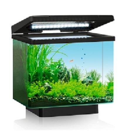 Akvarium Vio 40 liter (svart med LED)