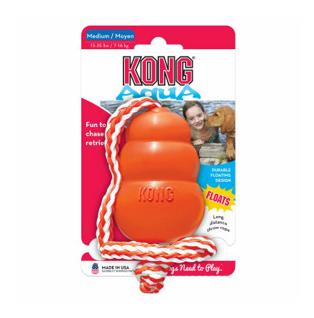 Kong Aqua med snöre medium