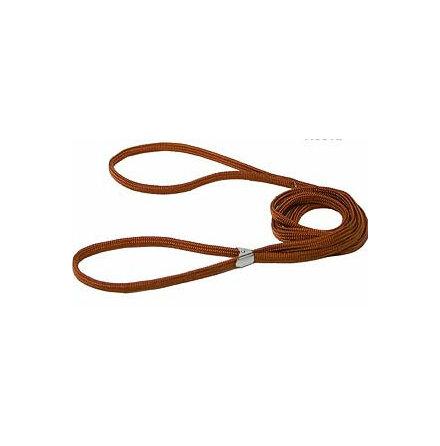 Utst.koppel, nylon m klämspänne, brunt 5mm/145cm