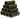 Räkpyramid large mörk 6,5x6,5x5 mm