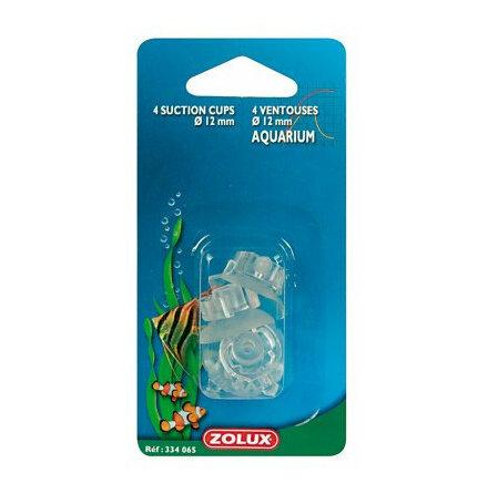 Sugkopp 12 mm med klips 4 st, Zolux