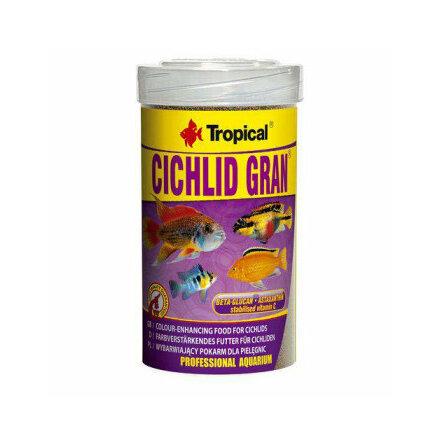 Tropical cichlidgranulat med färgförstärkare