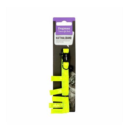 Reflexhalsband riffe med bjällra långhår gul 10 mm 25-30 cm