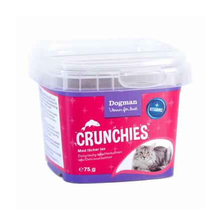Kattgodis Crunchies m Lax 75g