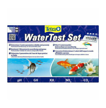 Testset 5 parametrar Ph, GH, KH, No2 och CO2 Tetra
