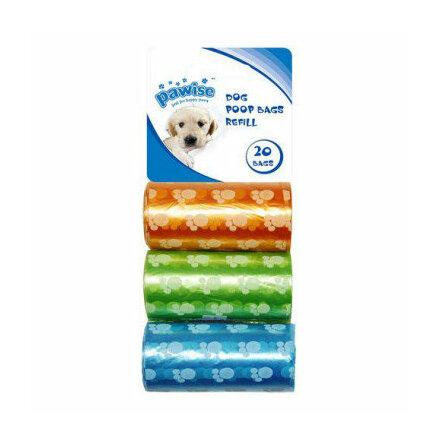 Bajspåse mixfärger 3 x 20 påsar