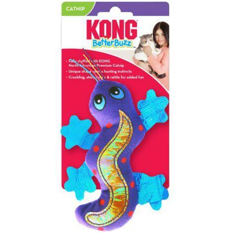 Kattleksak Better Buzz Gecko, 2,5x8x14 cm, kong