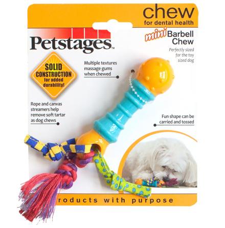 Hundleksak Mini barbell chew, Petstages