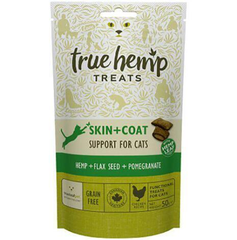 Kattgodis True Hemp skin & coat naturgodis 50 g, Trueleaf
