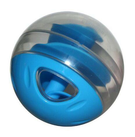 Kattleksak godisboll ljusblå/transparent 8 cm, CatIt