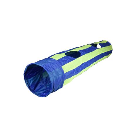 Katt/Hundlek tunnel 90cm lång 25 cm bred, grön/blå, Karlie flamingo