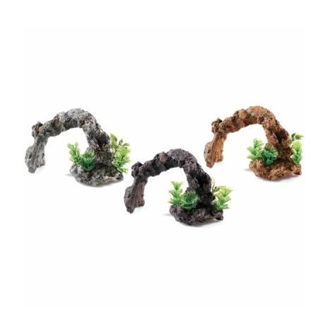 Stenbåge med växter 15 cm mixade färger