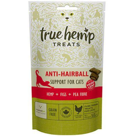 Kattgodis True Hemp anti-hairball naturgodis 50 g, Trueleaf